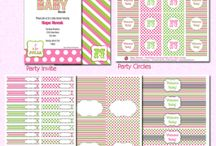 Pink & Lime Baby Shower / by Sweets & Treats Boutique