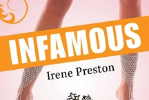 Crimson Book Covers / Book covers from some of the first titles released by Crimson Romance.  My book INFAMOUS is one of the launch titles.  Check it out at http://www.IrenePreston.com/  / by Irene Preston