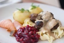 Nordic Cuisine / Main Course Organic Swedish meatballs, Gravlax with gravy sauce and lingonberry jam ~ Sides Organic Yukon Gold potatoes and organic egg noodles ~ Dessert Organic ice cream with organic raspberries ~ / by Cozymeal