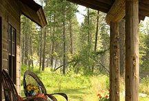 Log Home Porches and Decks / by LogFinish.com