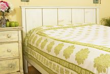 Green Bedspread /  Green Bedspread - Printed Flat Sheets available in Twin, Queen and King size / by Attiser