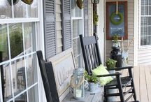 Outdoor - Sit a Spell - Decks, Patios and Porches / by Jill Fluckiger