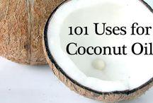 coconut oil, vinegar, baking soda, hydogen peroxide / by Luella Dueck