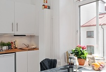 & K I T C H E N / interior design with lots of bright white modern furniture with strong graphic accents and a Scandinavian vibe.  / by Sophi Deinum