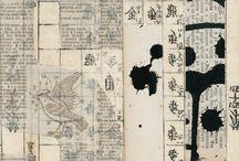 Collage/Art - Newspaper, Dictionary, Print. / by Liz Zimbelman