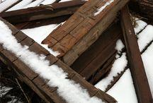 Reclaimed Hand Hewn Barn Beams / by Reclaimed Wood, Inc.