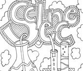 Coloring pages / by Gina Wilhelm
