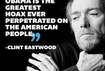 """Clint Eastwood / """"I have a very strict gun control policy: if there's a gun around, I want to be in control of it.""""  ― Clint Eastwood  / by Michelle Malone"""