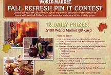 #WorldMarket Fall Refresh PIN IT Contest / by Lili Lee