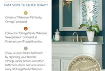 Omega Vanity Makeover Sweepstakes / Omega Cabinetry, a high-end, custom cabinetry line by MasterBrand Cabinets, is launching several new bath styles and designs. To celebrate the launch, we're spreading the word AND helping them with their Pinterest contest—you could win a new bathroom remodel with Omega Cabinetry! Simply pin your favorite Omega vanity photos and other bathroom/decor/accessories using #OmegaVanityMakeover in your description. Submit your pinboard at OmegaCabinetry.com/Pinterest / by Design Milk