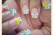 Hello Kitty Nail Art / by Ana Parada