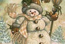 SNOWMAN . Oh let it snow ,let it snow, let it snow.. / by Mary Davidson