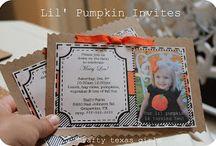 Girls' pumpkin birthday party / by Justin-Stephanie Hairr