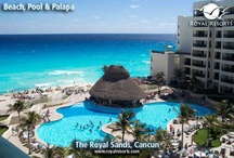 Cancun resorts - The Royal Sands / Rediscover life's many pleasures at The Royal Sands. A spectacular beach setting, luxury villas and a prestigious location at the heart of Cancun make it a favorite with visitors. Whether it's beach games or pool fun, tennis or a touch of Spa indulgence and Mexican and International cuisine, The Royal Sands offers a variety of activities and entertainment for the whole family. / by Royal Resorts