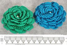 Crochet flowers and leaves / by Olesya Panchenko