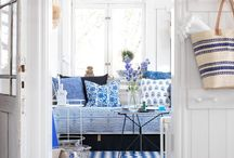 White and blue / by Mademoiselle Marie