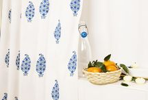 Shower Curtains Blue /  Shower Curtains Blue - Fabric Shower Curtains - Country Living Curtains / by Attiser