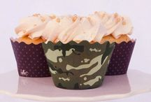 Camouflage Cupcake Wrappers & Party Decor - Bella Cupcake Couture / by Bella Cupcake Couture