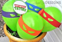 Jayden's 4th birthday party TMNT / by Hailey Barger