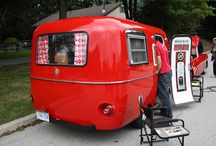 My Fantasy Strawberry Red Vintage Camper / by M Armstrong