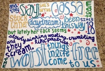 Lyrics / by Angelica Valdez