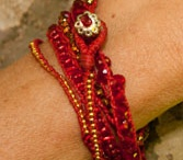 Lady Faith Wrap Bracelets / These bling, bling wrap bracelets are made by our Faith colectiva in mexico.  They love making, and you will love wearing them / by Lady Faith
