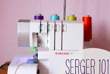 "All about Serging / Collection of tutorials, videos and articles on serging.    / by Rosetta ""Parlille"" Pierce"