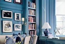 Blue Rooms / see name of board / by Lisa Hewitt