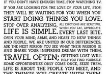 Quotes to Live By / by Nicole Schroeder