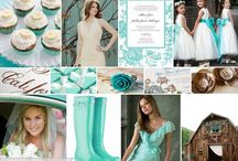 aqua and white / by Crissy's Crafts