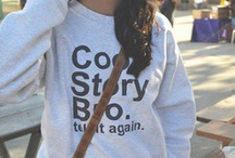Lets Get Comfy! :)  / All those comfy outfits, t's && sweats you could want!  / by Lindsey Terry