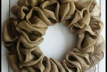 burlap inspirations / fun things to do with burlap / by Sandy McMurry