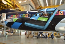 Airplane Wrap! / Here's presenting 'Behind the Scenes' pictures of the Jet Airways – Nokia Lumia, the all new innovative airplane wrap! / by Jet Airways India
