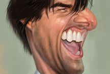 Caricatures / Caricature, caricatures, drawing, pencil, ink, markers, airbrush, ... / by John Moore