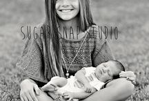 newborn with siblings / by Of the Sea Photography