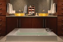 Bathroom Lighting / Dimming helps you to create moods and transform rooms - set the perfect atmosphere for getting ready or turn your bath into a soothing spa retreat / by Lutron Electronics