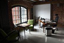 home office spaces / by Karen Whooley / KRW Knitwear Studio