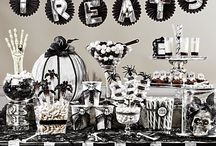 Black & Bone Sweets & Treats Ideas / Set a sweets table with real spooky style! A monochromatic palette of skulls, spiders & decadent sweets will cast a spell over all your party treat-takers! Decorate with a few bones & DIY details for a sure scare! / by Party City