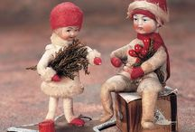 Spun Cotton Ornaments / I love the cotton Christmas ornaments. I have both German and Russian ones.   / by Lorraine Lehman