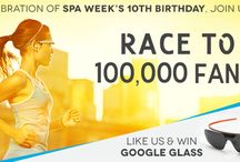 Google Glass Giveaway / To celebrate Spa Week's 10th birthday, we're giving away 10 amazing prizes when we reach 100,000 Facebook fans! Like our Facebook page to enter to win! / by Spa Week