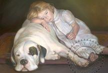 Art: Figures & Portraits: Children: God Bless the Beasts & Children / Paintings & Photos / by Vonnie Davis