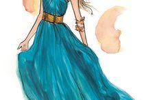Fashion Sketch / by Elena Ramirez