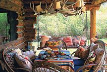 cozy porches and outdoor spaces  / I love out door living spaces, a porch all decorated as a living space. I love sitting out on my porch. Come on in, have a seat and enjoy some awesome porches. / by Carol Boyd