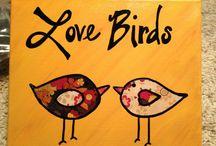 Paint Along Bird Ideas / by Torri Bates Janzen