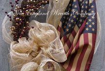 Americana deco / Wreaths, door deco / by Donna n Ray