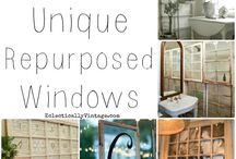 Old window ideas / by Kym Lopez Woods