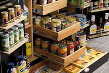Pantries & Storage Solutions / Organizing a kitchen with amazing pantries / by Tonya Waller Roach