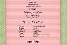 cleaning schedules / by Lesley Hogle
