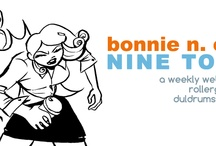 Bonnie N. Collide, Nine to Five / An inspiration board for my weekly webcomic about a rollergirl at her day job. Check it out at my website, eatyourlipstick.com! / by Monica Gallagher