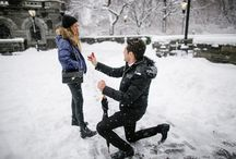 Snowy New York City Proposal / Proposal Planning by The Heart Bandits Photography by Petronella Photography / by The Heart Bandits